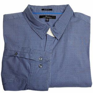 Marc Anthony Slim Fit Button Down Casual Shirt XXL